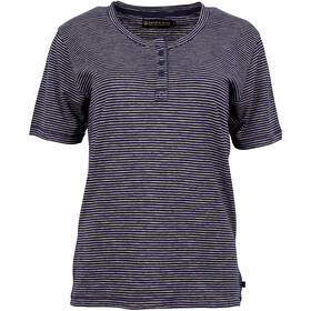 United By Blue Mull Stripe T-shirt à col tunisien Femme, navy